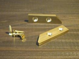 #42PLATE ナラシ定規用真鍮プレート ネジ付/brass plate for key flat wood gauge